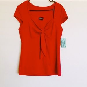 NWT Rocksteady Red Top with Bow XXL